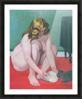 Woman with cat by Felix Vallotton Picture Frame print