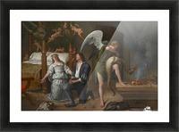 Tobias en Sarah bidden terwijl Rafael bindt de demon Picture Frame print