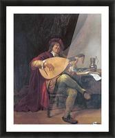 Selbstportrat als Lautenis Picture Frame print