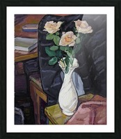 Three Roses Picture Frame print