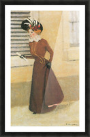 Woman with hat by Felix Vallotton Picture Frame print