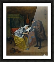 Steen Doctor and His Patient Picture Frame print