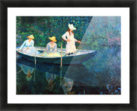 women fishing Picture Frame print