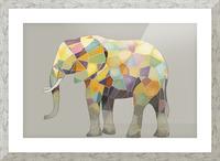 Elephant Mosaic Picture Frame print