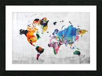 Monde Picture Frame print