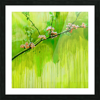 Green Spring Picture Frame print