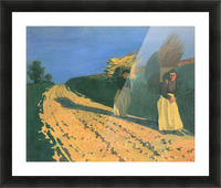 Wood-bearing women by Felix Vallotton Picture Frame print