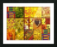 YELLOW COLLAGE Picture Frame print