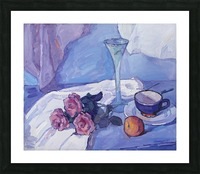Still Life with Purple Roses Picture Frame print