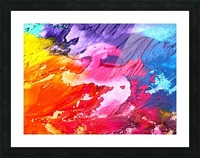 Waves Of Colors Picture Frame print