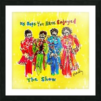The Beatles - Enjoyed The Show Picture Frame print