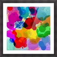 colorful geometric circle and triangle pattern abstract in red orange yellow green blue Picture Frame print