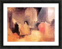 A dinner in a large room with people in costumes by Joseph Mallord Turner Picture Frame print