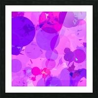 geometric circle and triangle pattern abstract in pink purple Picture Frame print