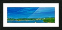 Island crossing Picture Frame print