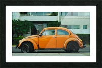 Parked Yellow Coccinelle Picture Frame print