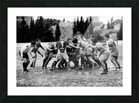 Rugby Mêlée Picture Frame print