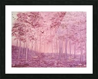 Pink Woods Picture Frame print