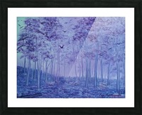Lavender Woods Picture Frame print