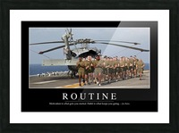 Routine: Inspirational Quote and Motivational Poster Picture Frame print