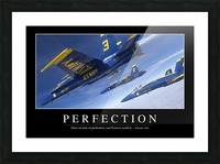Perfection: Inspirational Quote and Motivational Poster Picture Frame print