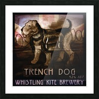 Whistling Kite Brewery: Trench Dog Picture Frame print