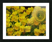Yellow Abstract Floral Art Picture Frame print