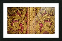 Golden wood carvings Picture Frame print