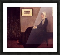 Arrangement in Black and Gray by Whistler Picture Frame print