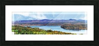 Grand Bay-Westfield New Brunswick in Autumn 48 by 12 Picture Frame print