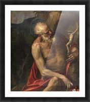 Saint Jerome meditating Picture Frame print