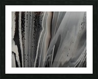 BLACK MARBLE Picture Frame print