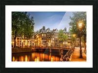 AMSTERDAM Idyllic impression from Singel Picture Frame print