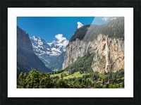 Valley of Waterfalls Picture Frame print