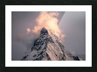 Matterhorn Glow Picture Frame print