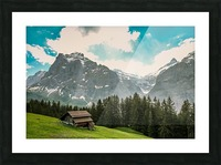 Hut on a hill Picture Frame print