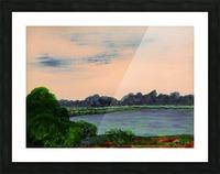 Evening Landscape Picture Frame print
