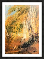 Beech woods with Gypsies 2 by Joseph Mallord Turner Picture Frame print