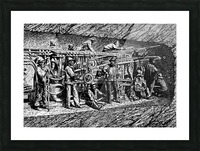 Punching Machine At The Tunnel Of Mont Cenis_OSG Picture Frame print