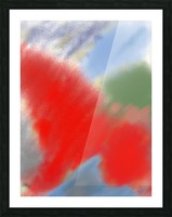 Abstract-red flame Picture Frame print