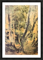 Birch woods with Gypsies by Joseph Mallord Turner Picture Frame print