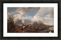 A cavalry battle Picture Frame print