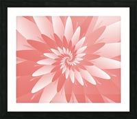 Spiral Flower Pattern Art Picture Frame print
