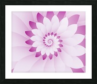 Abstract Pink & White Floral Design Art Picture Frame print