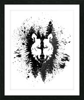 Absract Wolf Picture Frame print