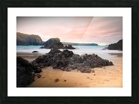 Surreal Stormy Beach Scene Picture Frame print