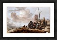 A Coastal Scene Picture Frame print