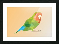 Parrot LOW POLY ART  Picture Frame print
