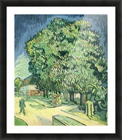 Blossoming chestnut tree by Van Gogh Picture Frame print