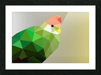 RED CRESTED TURACO LOW POLY ART Picture Frame print